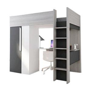 Двухъярусные со столом и шкафом