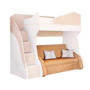 Двухъярусные кровати с местом под диван