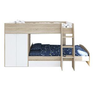 Двухъярусная кровать со смещением