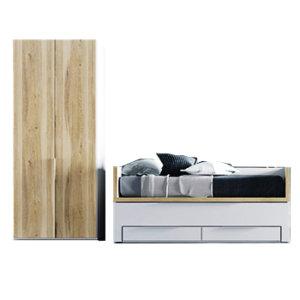 Одноярусные кровати со шкафом