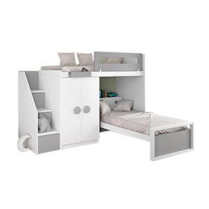 Двухъярусные кровати угловые