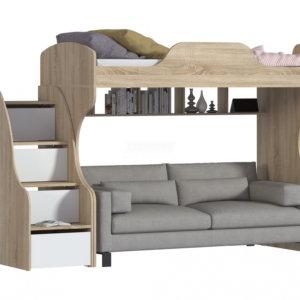 двухъярусная детская кровать с диваном