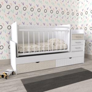 кроватка белая детская