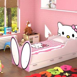 кровать для девочки белая купить