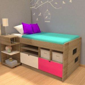 двухъярусная кровать в однокомнатной квартире
