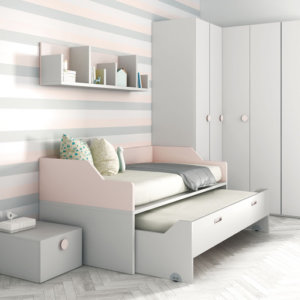 односпальная кровать с выдвижными ящиками
